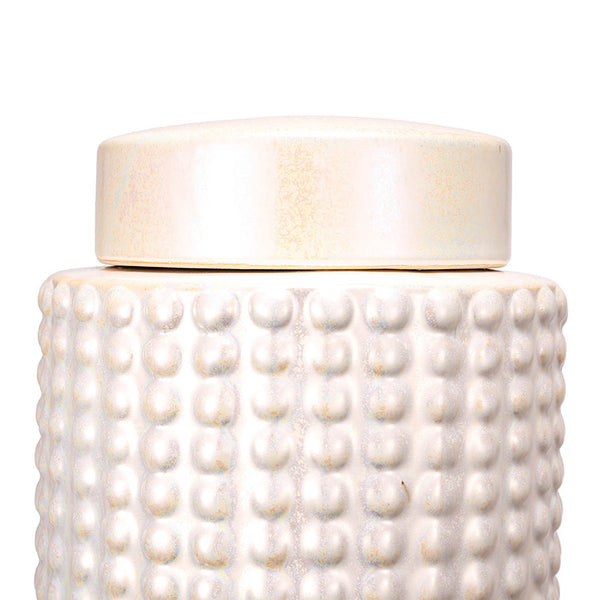 Pearly Ceramic Jar