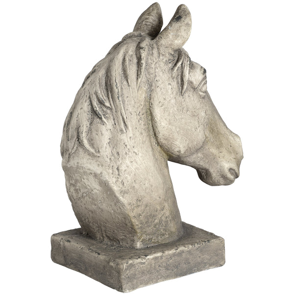 Large White Resin Horse Head