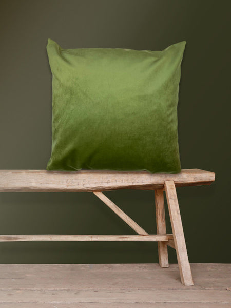 Moss Green Velvet Cushion