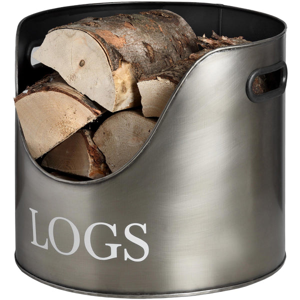 Pewter Log Bucket