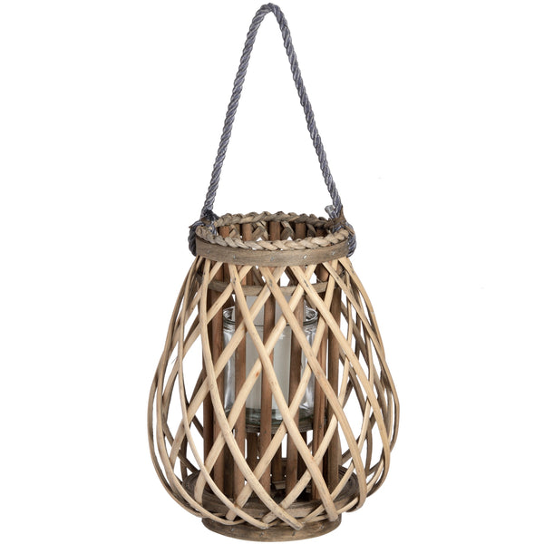 Bulbous Wicker Lantern