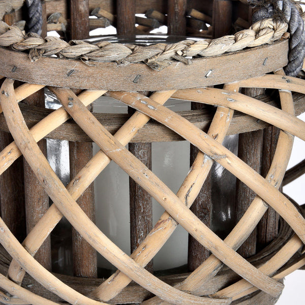 Wicker Basket Lantern