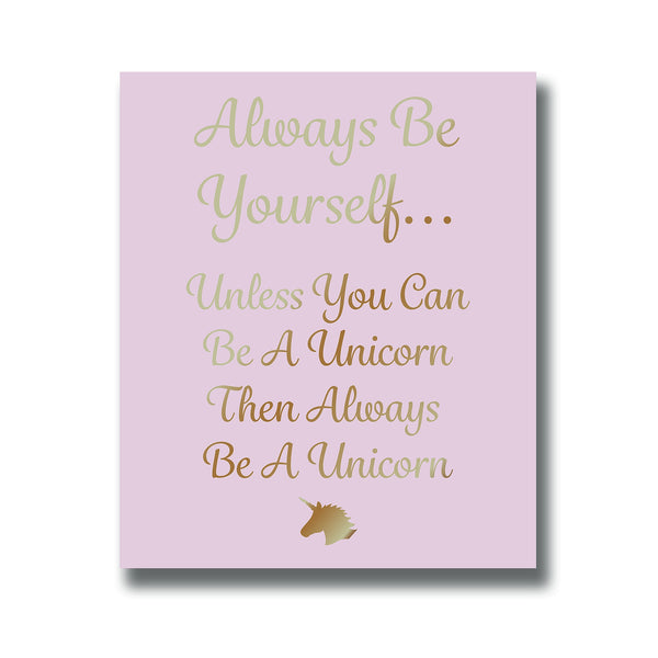 Pink Unicorn Wall Plaque