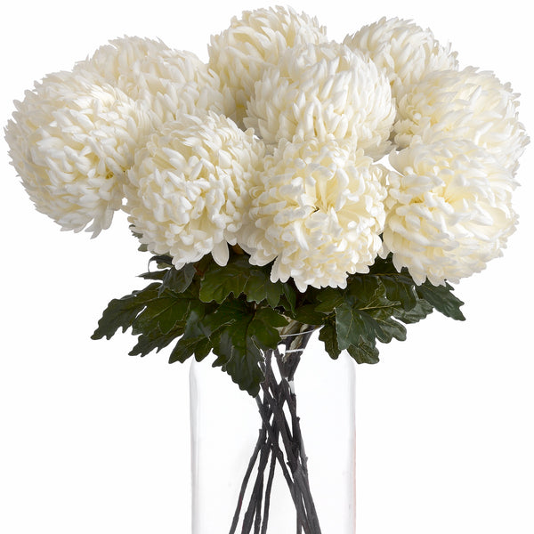Faux White Chrysanthemum