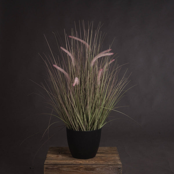 Faux Wild Grass Pot