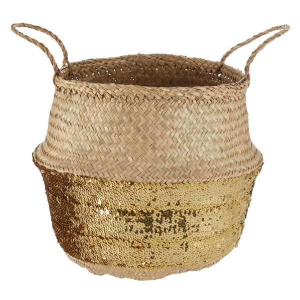 Seagrass Sequin Basket