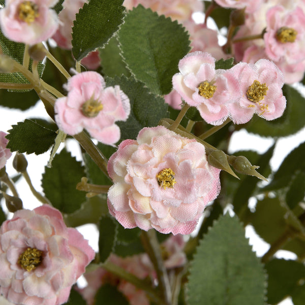 Faux Pink Wild Meadow Rose