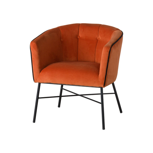 Rust Velvet Tub Chair