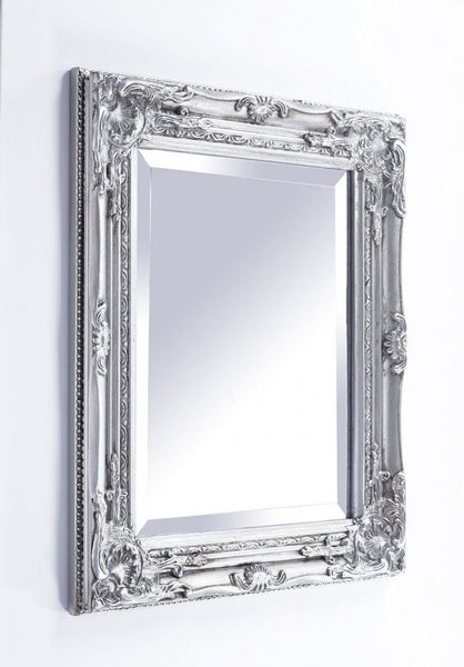Ornate Wall Mirror (3 Colours) Silver,  - Olive and Sage, Olive and Sage  - 1