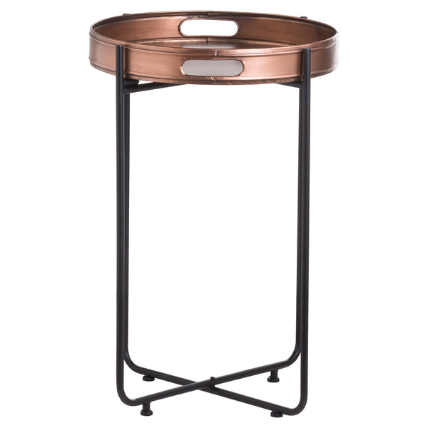 Tall Copper Tray Table