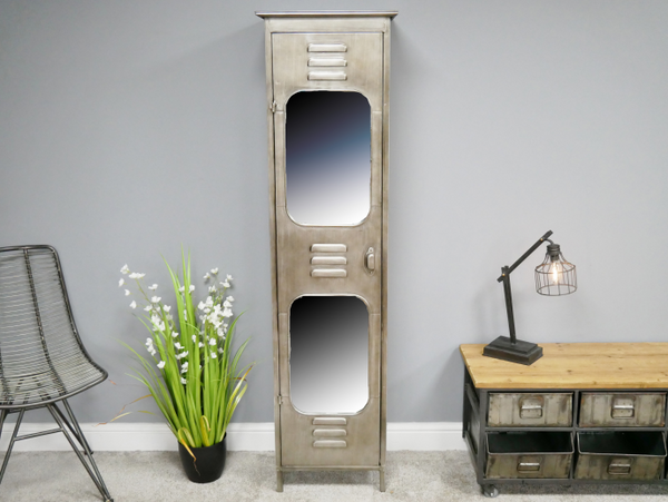 Mirrored Locker Cabinet