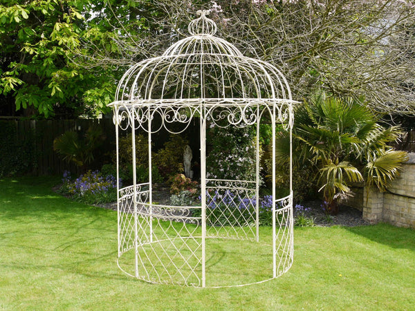 Wrought Iron Gazebo Cream,  - Olive and Sage, Olive and Sage  - 2