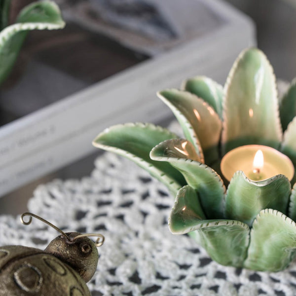 Open Artichoke T Light Holder