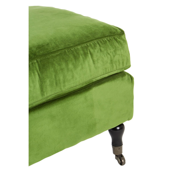 Green Velvet Plush Footstool