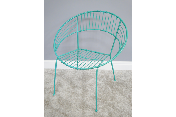 Blue Retro Garden Chair