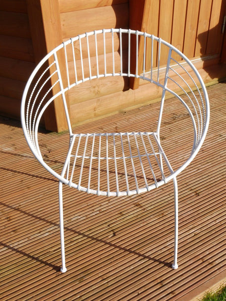 Retro Garden Chair White,  - Olive and Sage, Olive and Sage  - 4