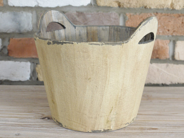 Rustic Wooden Bucket