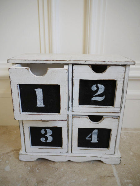 Small Chalk Chest 4 Drawer,  - Olive and Sage, Olive and Sage  - 2
