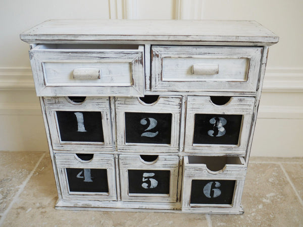 Small Chalk Chest 8 Drawer,  - Olive and Sage, Olive and Sage  - 1