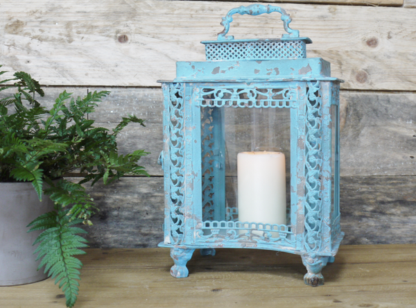 French Blue Lantern