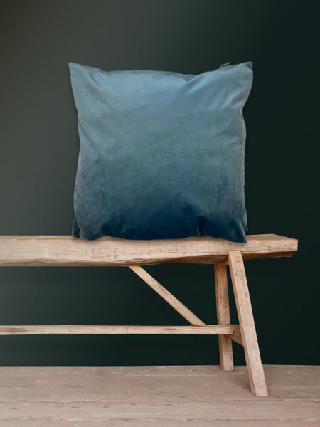 Dark Sea Velvet Cushion