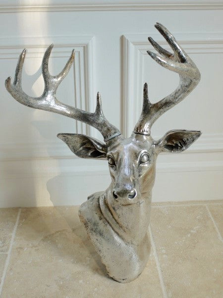 Silver Stag Head ,  - Olive and Sage, Olive and Sage  - 2