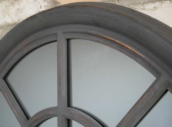 Large French Grey Mirror