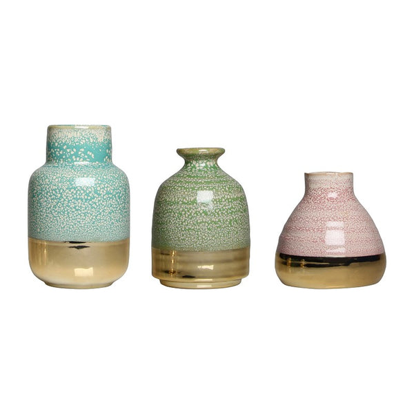 Set of 3 Pastel Vases