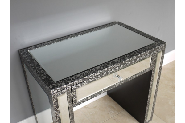 Silver Embossed Dressing Table