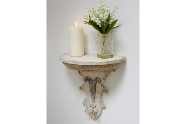 Sconce Shelf with Hooks
