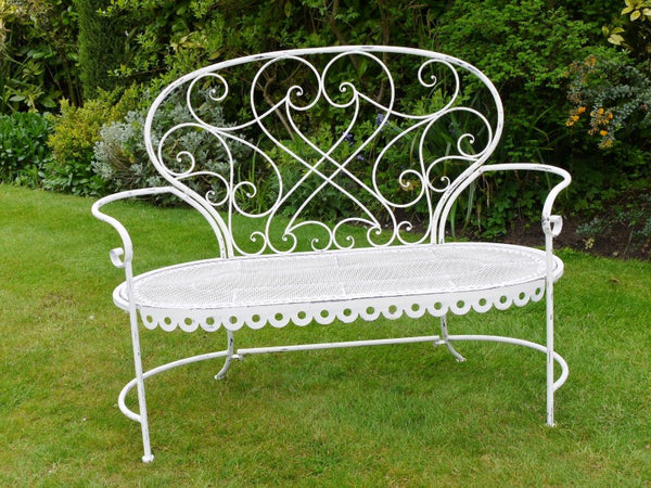White Wash Garden Bench ,  - Olive and Sage, Olive and Sage
