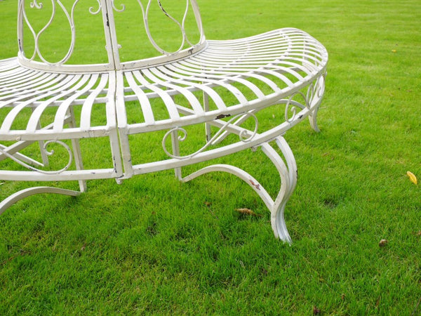 Cream Metal Tree Bench ,  - Olive and Sage, Olive and Sage  - 2