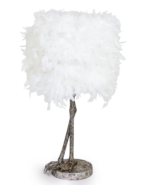 Silver Feather Lamp