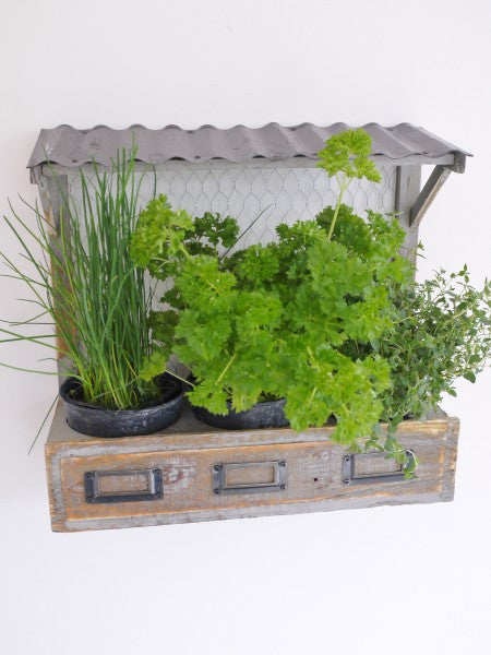 Rustic Wall Herb Planter ,  - Olive and Sage, Olive and Sage  - 2