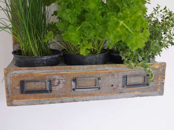 Rustic Wall Herb Planter ,  - Olive and Sage, Olive and Sage  - 3