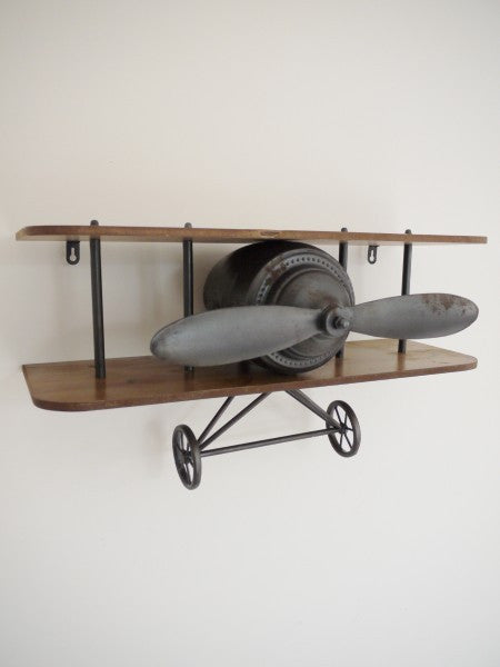 Retro Aeroplane Shelf Olive And Sage