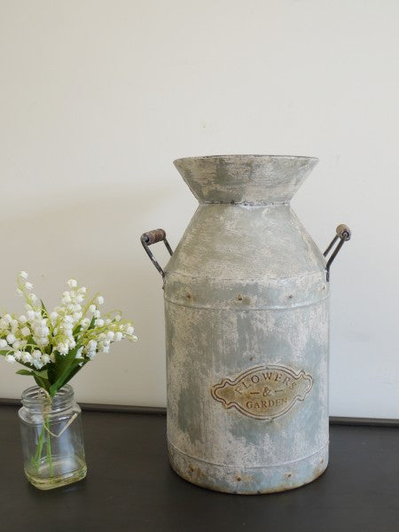Galvanised Milk Churn ,  - Olive and Sage, Olive and Sage  - 2