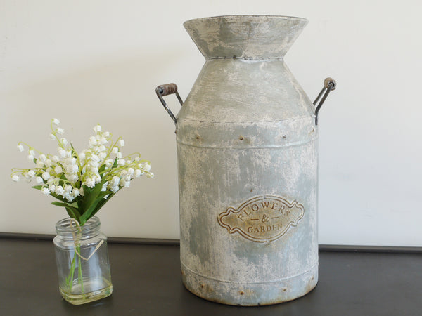 Galvanised Milk Churn ,  - Olive and Sage, Olive and Sage  - 1