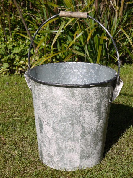 Galvanised Bucket ,  - Olive and Sage, Olive and Sage  - 2