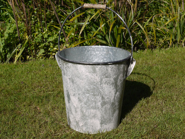 Galvanised Bucket ,  - Olive and Sage, Olive and Sage  - 1