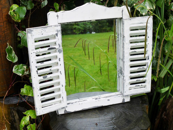 Garden Shutter Mirror Small White,  - Olive and Sage, Olive and Sage  - 2