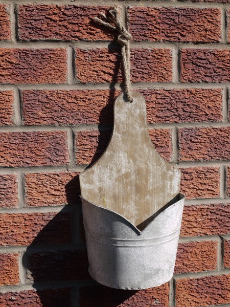 Galvanised Wall Planter ,  - Olive and Sage, Olive and Sage  - 2