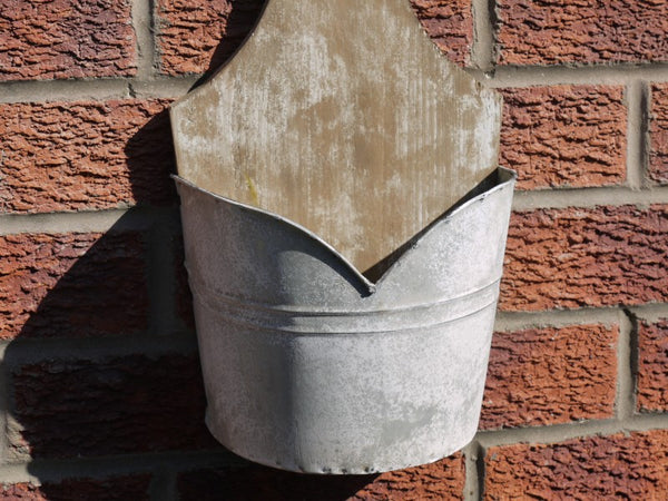 Galvanised Wall Planter ,  - Olive and Sage, Olive and Sage  - 3