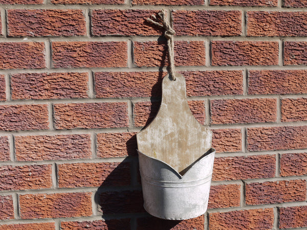 Galvanised Wall Planter ,  - Olive and Sage, Olive and Sage  - 1
