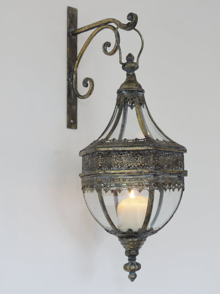 Marrakech Wall Lantern Medium,  - Olive and Sage, Olive and Sage  - 1