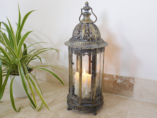 Marrakech Floor Lantern Medium,  - Olive and Sage, Olive and Sage  - 8