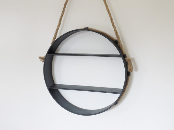 Round Hanging Shelf ,  - Olive and Sage, Olive and Sage  - 3