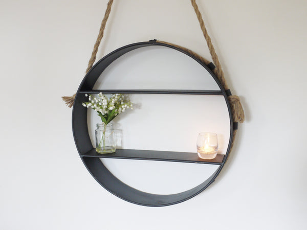 Round Hanging Shelf ,  - Olive and Sage, Olive and Sage  - 4