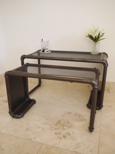 Industrial Nest Tables ,  - Olive and Sage, Olive and Sage  - 2