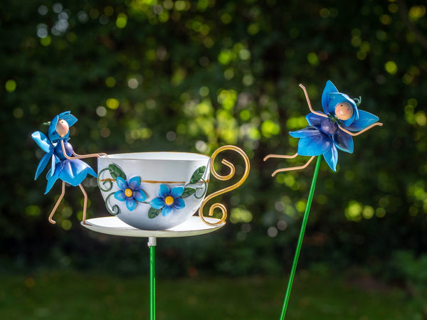 Forget Me Not Cup & Pot Stake